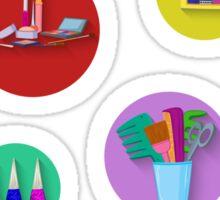 Flat design. Beauty salon spa.Flat design spa round icon set. Sticker