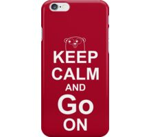 KEEP CALM AND Go ON - White on Red Design for Go Programmers iPhone Case/Skin
