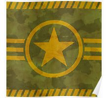 Khaki texture with star Poster