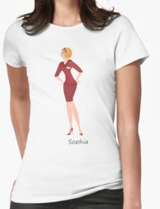 Beauty salon spa Sophia worker Womens Fitted T-Shirt