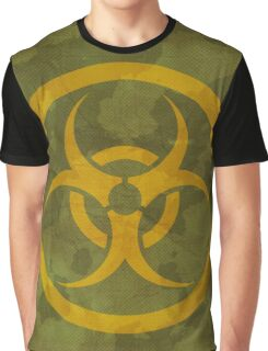 Khaki texture with biohazard sign Graphic T-Shirt