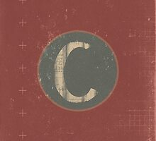 Retro Letter C by alphabeautiful