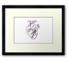 Wobbled Anatomical Heart Framed Print