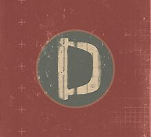 Retro Letter D by alphabeautiful