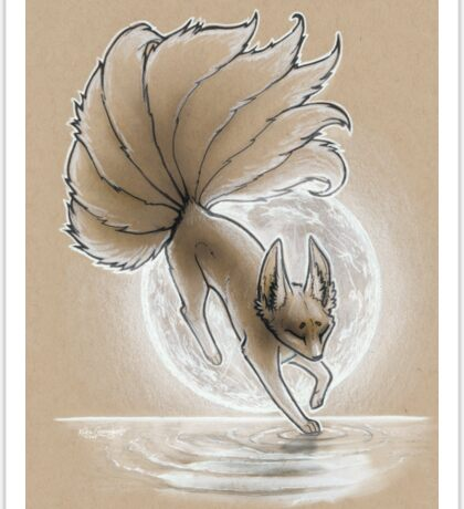 Inktober #27 - The Light Footed Kitsune Sticker