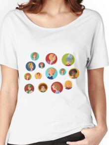 Beauty salon spa faces Women's Relaxed Fit T-Shirt