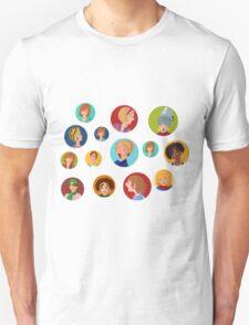 Beauty salon spa faces Unisex T-Shirt