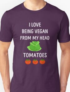 I Love Being Vegan Funny Veganism T-Shirt