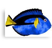 Happy Space Blue Tang Reef Fish Canvas Print