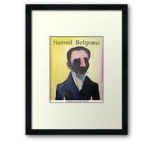 Manuel Belgrano por Diego Manuel Framed Print