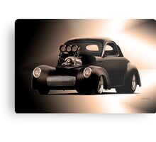 1941 Willys 'Pro Street' Coupe Metal Print