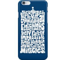 Full of Miracles (white) iPhone Case/Skin