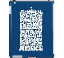 Full of Miracles (white) iPad Case/Skin