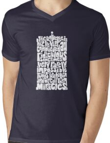Full of Miracles (white) Mens V-Neck T-Shirt