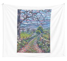 Acrylic painting, Derbyshire art Wall Tapestry