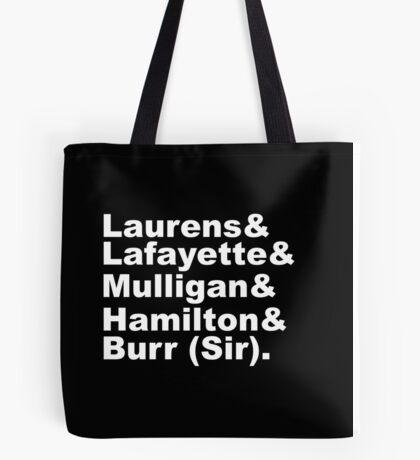 Hamilton Revolutionaries (white) Tote Bag