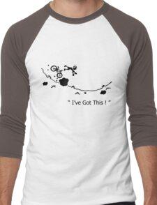 """Cycling Crash, Mountain Bike """" I've Got This ! """" Cartoon Men's Baseball ¾ T-Shirt"""