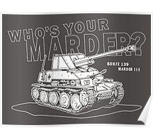 Marder III Anti-Tank Gun Poster