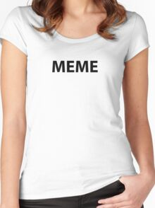 MEME Women's Fitted Scoop T-Shirt