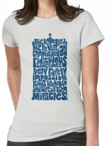 Full of Miracles (blue) Womens Fitted T-Shirt
