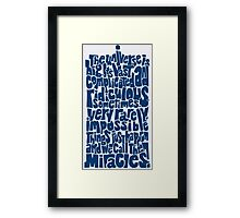 Full of Miracles (blue) Framed Print