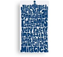 Full of Miracles (blue) Canvas Print