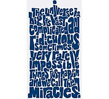 Full of Miracles (blue) Photographic Print
