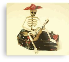 Day of the Dead Guitar Player Metal Print