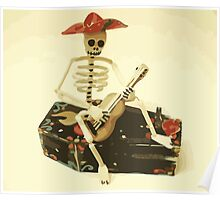 Day of the Dead Guitar Player Poster