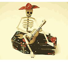 Day of the Dead Guitar Player Photographic Print