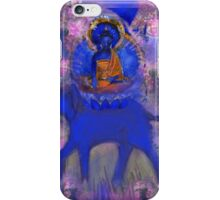 Akshobya Buddha on Blue Elephant iPhone Case/Skin