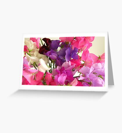 Sweet Peas Greeting Card