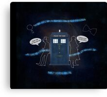 Wholocked The Tardis Canvas Print