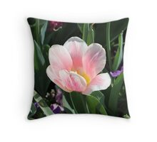 Perfectly Pink Tulip Throw Pillow