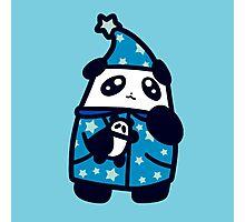 Bedtime Pajamas Panda Photographic Print