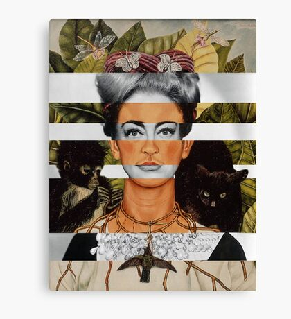 "Frida Kahlo's ""Self Portrait"" & Joan Crawford Canvas Print"