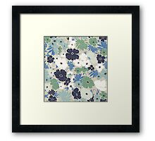 Vinage Flowers Pattern Framed Print