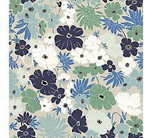 Vinage Flowers Pattern Photographic Print