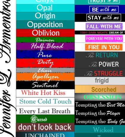 Jennifer Armentrout Book Spines Sticker