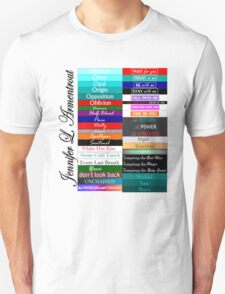 Jennifer Armentrout Book Spines Unisex T-Shirt