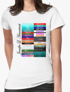 Jennifer Armentrout Book Spines Womens Fitted T-Shirt