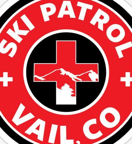 VAIL COLORADO Skiing Ski Patrol Mountain Art Sticker