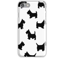 pattern with dogs) iPhone Case/Skin