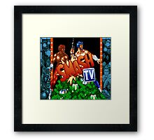 Super Smash TV (SNES TItle Screen) Framed Print