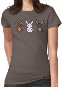 Three little Sad Bunnies Womens Fitted T-Shirt