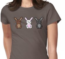 Three little Sad Bunnies Womens Fitted T-Shirt