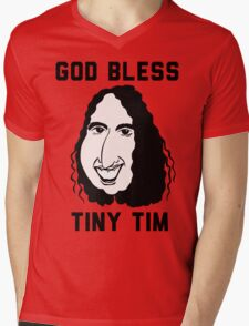 God Bless Tiny Tim Mens V-Neck T-Shirt