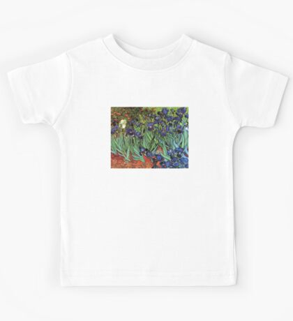'Blue Irises' by Vincent Van Gogh (Reproduction) Kids Tee