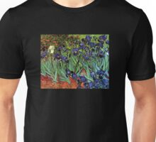 'Blue Irises' by Vincent Van Gogh (Reproduction) Unisex T-Shirt