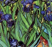 'Blue Irises' by Vincent Van Gogh (Reproduction) Sticker